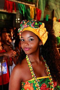 BRA1897AW South America, Brazil, Pernambuco, Recife, carnival, revellers in the street at Recife carnival