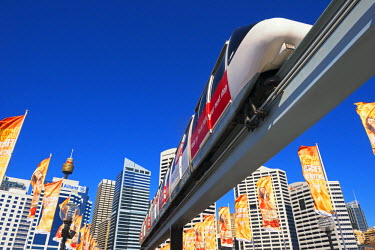 AUS1871AW Monorail, Darling Harbour, Sydney, New South Wales, Australia,