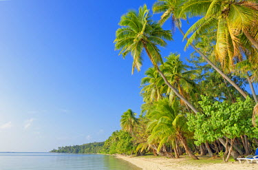 Tropical beach, Nanuya Lailai Island, Yasawa island group, Fiji, South Pacific islands, Pacific