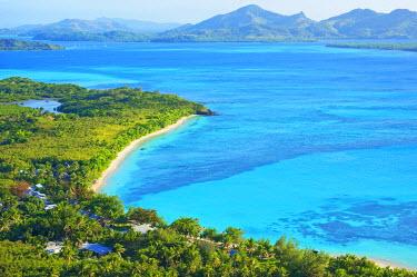 FIJ1015AW Blue Lagoon, Nacula island, Yasawa island group, Fiji, South Pacific islands, Pacific