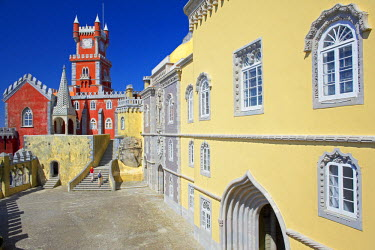 POR7210AW Pena National Palace, UNESCO World Heritage Site, Sintra, Portugal, Europe
