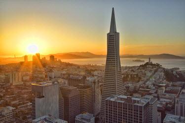 USA8751AW View from Mandarin Oriental, San Francisco, California, USA