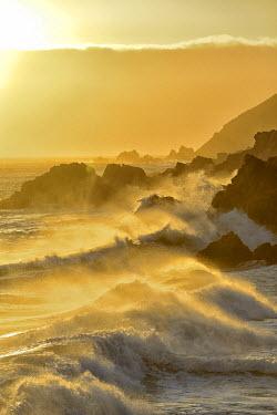 USA8827AW Pacific coast at sunset,Pfeiffer State Park, Big Sur, California,USA