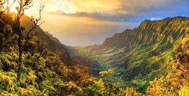 US07110 USA, Hawaii, Kauai, Na Pali Coast, Kalalau Valley