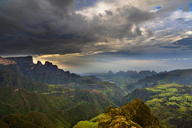 AF16MZW0742 Landscape in the Semien Mountains National Park, Ethiopia