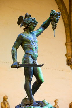 EU16BJN0101 Cellini's sculpture of Perseus with the head of Medusa in Florence, Tuscany, Italy.