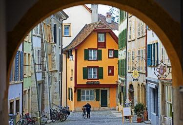 SWI7055 Europe, Switzerland, Biel, medieval old town