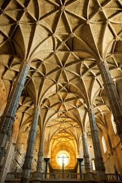 POR7224AW Church of the Jeronimos Monastery (Mosteiro dos Jeronimos), a Unesco World Heritage Site. Lisbon, Portugal