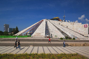 AL01021 Albania, Tirana, The Pyramid, former tomb of Communist-era leader Enver Hoxha
