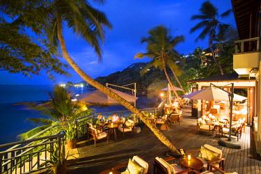 SC01291 Terrace of the restaurant at Hilton Northolme Resort, Mahe, Seychelles
