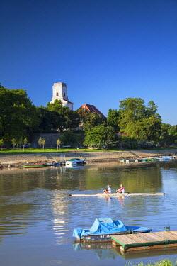 HUN1330AW Bishop's Palace and Raba River, Gyor, Western Transdanubia, Hungary