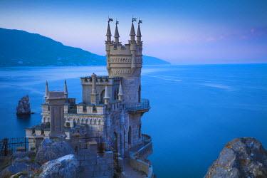 UA02183 Ukraine, Crimea, Yalta, Gaspra, The Swallow's Nest castle perched on Aurora Clff