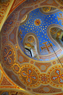 UA02209 Ukraine, Crimea, Foros, Foros church sitting on top of a cliff overlooking the Black Sea