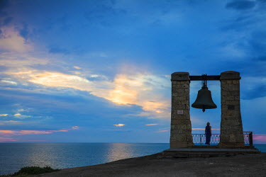 UA02246 Ukraine, Crimea, Sevastopol, Khersoness, Fog bell - which comes from a Crimean War cannon.