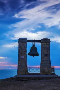 UA02248 Ukraine, Crimea, Sevastopol, Khersoness, Fog bell - which comes from a Crimean War cannon.