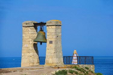 UA02255 Ukraine, Crimea, Sevastopol, Khersoness, Fog bell - which comes from a Crimean War cannon.