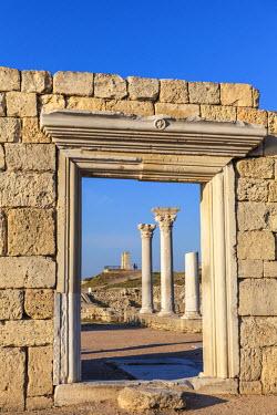 UA02261 Ukraine, Crimea, Sevastopol, Khersoness, The columns and portico of an early Christian church