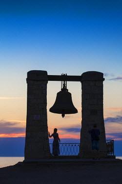 UA02262 Ukraine, Crimea, Sevastopol, Khersoness, Fog bell - which comes from a Crimean War cannon.