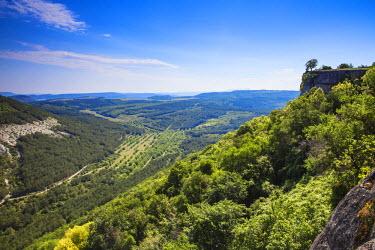 UA02267 Ukraine, Crimea, Backchisaray, View from the cave town of Chufut-Kale