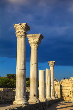 UA02275 Ukraine, Crimea, Sevastopol, Khersoness, The columns and portico of an early Christian church