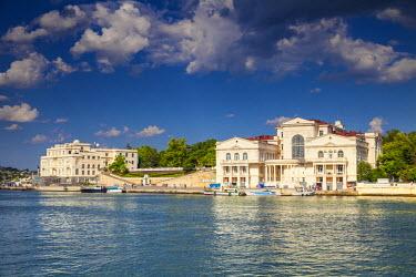 UA02276 Ukraine, Crimea, Sevastopol, Buildings on Primorsky (seaside) boulevard