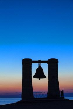 UA02272 Ukraine, Crimea, Sevastopol, Khersoness, Fog bell - which comes from a Crimean War cannon.