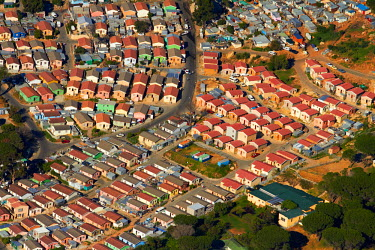 AF42DWA0028 Aerial view of Imizamo Yethu township, Hout Bay, Cape Town, South Africa.