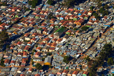 AF42DWA0029 Aerial view of Imizamo Yethu township, Hout Bay, Cape Town, South Africa.