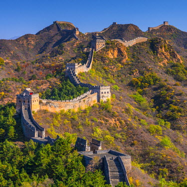 CN02131 China, Hebei Province, Luanping County, Jinshanling, Great Wall of China (UNESCO World Heritage Site) from Ming Dynasty