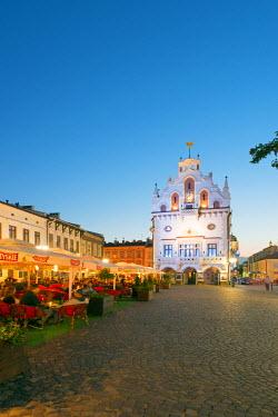 POL1346 Europe, Poland, Rzeszow, rynek town square, Neo-Gothic style town hall