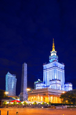 POL1377 Europe, Poland, Warsaw, Palace of Culture and Science
