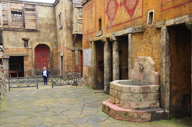 ITA2467AW The roman district of Suburra, two thousands years ago, in a movie set at Cinecitta. Rome, Italy (MR)