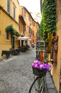 ITA2456AW A traditional street in Rome. Italy