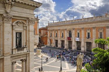 ITA2449AW Piazza del Campidoglio by Michelangelo. Capitoline Hill, Rome. Italy