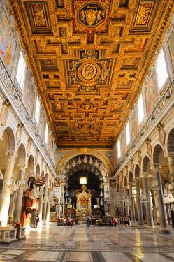 ITA2451AW Interior of Santa Maria in Aracoeli Basilica (Basilica di Santa Maria in Aracoeli). Rome, Italy