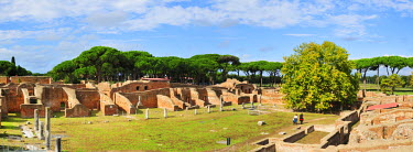 ITA2475AW The wrestling school of the Neptun baths of the roman city of Ostia Antica, the ancient harbour of Rome, Italy