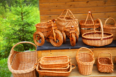 SLV1279 Slovakia, Carpathian Mountains, High Tatra. Typical hand crafted wooden made Slovak souvenirs.