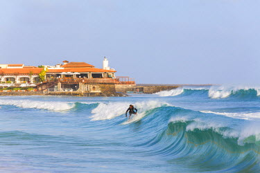 CV01157 Surfer, Santa Maria, Sal Island, Cape Verde