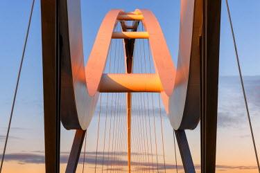 ENG11226AW Europe, United Kingdom, England, Stock On Tees, Infinity Bridge