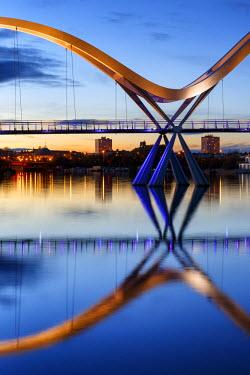 ENG11233AW Europe, United Kingdom, England, Stock On Tees, Infinity Bridge