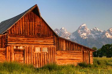 USA8904AW U.S.A., Wyoming, Grand Teton National Park, Mormon Row Barn