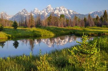 USA8906AW U.S.A., Wyoming, Grand Teton National Park, Schwabacher�s Landing