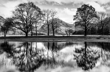 ENG11082AW Buttermere reflections, Cumbria, UK