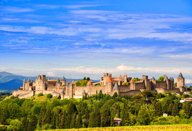 FRA8045AW The fortified city of Carcassonne, Languedoc-Roussillon, France