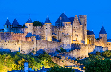 FRA8047AW The fortified city of Carcassonne, Languedoc-Roussillon, France