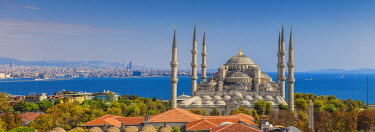 TK01554 Turkey, Istanbul, Sultanahmet, Blue Mosque - Sultan Ahmed Mosque