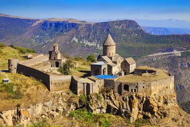 AM01031 Armenia, Syunik Province, Tatev, Tatev Monastery, Church of Poghos and Petros (Peter and Paul) and smaller Church of Surp Grigor