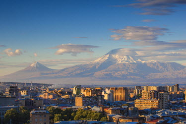 AM01084 Armenia, Yerevan, View of Yerevan and Mount Ararat from Cascade