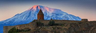 AM01090 Armenia, Yerevan, Ararat plain, Khor Virap Armenian Apostolic Church monastery, at the foot of Mount Ararat, where Grigor Luisavorich (St. Gregory the Illuminator) was imprisoned