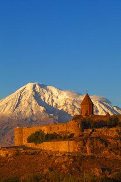 AM01095 Armenia, Yerevan, Ararat plain, Khor Virap Armenian Apostolic Church monastery, at the foot of Mount Ararat, where Grigor Luisavorich (St. Gregory the Illuminator) was imprisoned